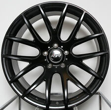 "18"" Miro 111 Black Wheels 18X8.5 +35 5x112 Rims Set (4) Fits Audi A4"