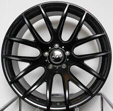 "18"" Miro 111 Black Wheels 18X8.5 +35 5x112 Rims Set (4) Fits Audi A4"
