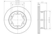 2x HELLA PAGID Discos de Freno Traseros Para VW LT 8DD 355 105-811