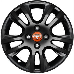 Genuine Toyota Aygo 15'' Alloy Wheel 5 Double Spoke Black 2018- PW4570H004ZB
