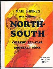 1964 12/25 North vs South All Star Football Game Program Miami Florida