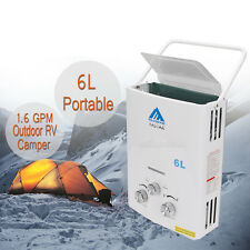 Tankless Hot Water Heater Propane Gas LPG 1.6 GPM Outdoor RV Camper 6L Portable