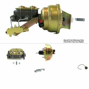 """67-69 Chevy Camaro FW Mount Power 8"""" Single Brake Booster Kit Drum/Drum SBC 302"""