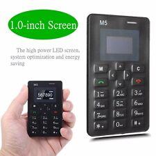 M5 ULTRA SOTTILE MINI GSM BLUETOOTH TELEFONO CARTA TASCA CELLA TELEFONO MP3 FM