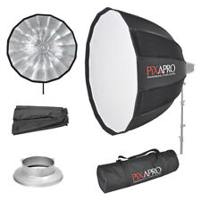 PIXAPRO 90 cm 16-Face Simple-Open Deep Parapluie Softbox Bowens Type S