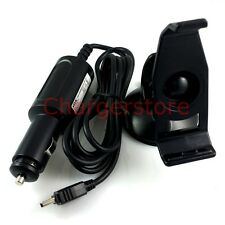Original Mitac car charger + mount holder for Garmin Nuvi GPS 200 200W 205 245WT