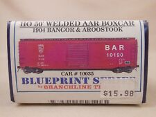 HO SCALE BRANCHLINE BANGOR & AROOSTOOK 50' AAR WELDED BOX CAR KIT