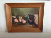 Vintage Painting Oil On Board Still Life Signed G.W.Lilly