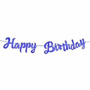 Happy Birthday Banner Bunting paper Birthday Party Hanging Garland Banner Baby S
