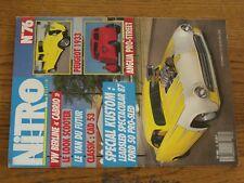 $$$ Revue Nitro Magazine N°76 Peugeot 1933Anglia Pro-streetVW Berline cabrio