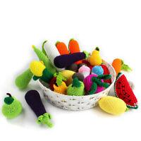 Crochet Vegetable Fruit Pendent Pram Toys Nursery Decor Stroller Garland Making