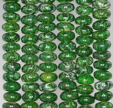 "10X5MM GREEN SCHILLER SHEEN SPAR GEMSTONE RONDELLE LOOSE BEADS 16"""