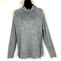 Rag Bone S gray Top Tunic Side Zipper Rayon Knit soft slouchy cowl neck cozy