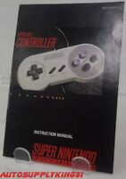 Super NES Controller (Super Nintendo, SNES) Authentic Instruction Manual Only
