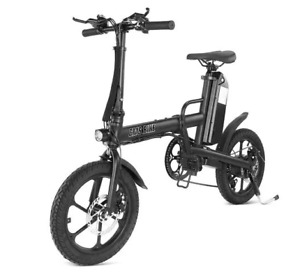 F16-PLUS 13Ah 250W Black 16 Inches Folding Electric Bicycle 25km/h 80km - Black