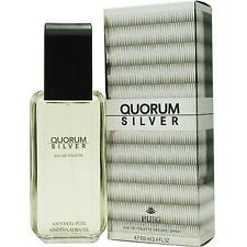 QUORUM SILVER by Antonio Puig 3.3 / 3.4 oz edt Cologne NEW IN BOX