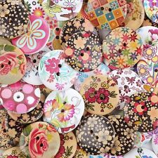 Crystallove Bulk 2 Holes 30mm Flower Buttons Mixed for Sewing Scrapbooking and