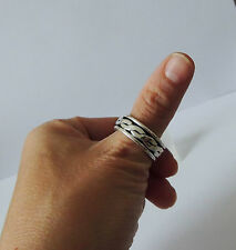 925 STERLING SILVER SPINNER RING size M 1/2 everyday wear
