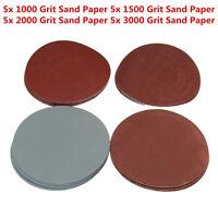 20Stk/Set 125mm P1000-P3000 Schleifscheiben Schleifpapier Klett rundSanding Disc