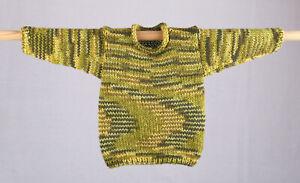 Kinder - Strick-Pullover ca Gr. 98, in Grün - gemustert , handgestrickt!*