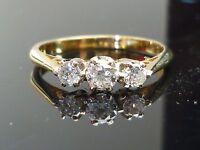 Stunning 18ct gold 0.35ct diamond 3 stone ring HIGH QUALITY DIAMOND AG13