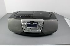 Sony CFD-V5 CD Player Cassette AM/FM Radio Portable Boombox MEGA BASS Tested