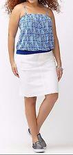 Lane Bryant Plus Size 14/16 1X Printed Blue Tube Tank Top Shirt Cami Halter NeW