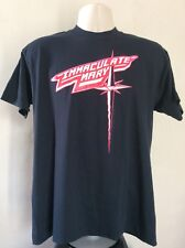 Vtg 80s Immaculate Mary T-Shirt Black L/XL Heavy Metal Rock Band Mirror Records