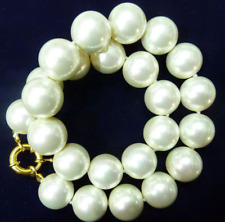 "20mm AAA+ White south sea shell pearl necklace 18""AAA"