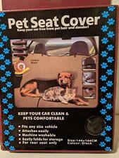 """Pet Seat Cover Color Black 144cm x 144cm (Roughly 56.5"""" x 56.5"""") - New"""