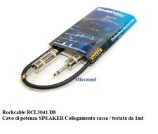 Rockcable RCL3041 D8 Cavo di potenza SPEAKER Collegamento cassa testata da 1mt