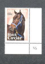 Australia Horses-Racehorses Black Caviar-White Border Printing mnh-2013