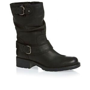 Clarks Ladies Mid-Calf Boots ORINOCCO JIVE Black Leather UK 7 / 41