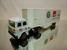 POLISTIL ART RJ101 FIAT 170 F1 CAR TRANSPORTER ALFA ROMEO - WHITE 1:60? - GOOD