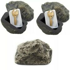 3 Piece Outdoor Rock Hide A Key House Home Emergency Spare Key Holder Hider Set