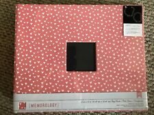New American Crafts Memorology Tiny Hearts Premium DRing Cloth Pink Album Binder