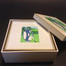 Otagiri Boxed Coaster Set Golf Theme Lacquerware 6 Coasters Curtis Swann Design