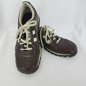 Skechers Womens Leather Casual Shoes Size US 6 White Stripes SH154