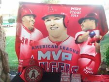Anaheim Angels Baseball Mike Trout Blanket & T-Shirt, Angels Insulated Bag & Bam