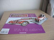 IFA F8 cabrio scale 1/43 + MAGAZINE issue Nr.110 Kultowe AUTA PRL-u
