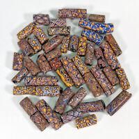(44) Antique African Millefiori Venetian Glass Trade Beads Loose Mixed