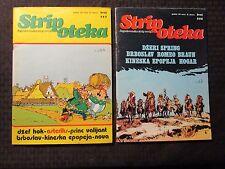 1980 STRIPOTEKA #583 588 FN 6.0 Yugoslavia Comic LOT of 2 Prince Valiant Asterix