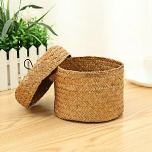 New Handmade Bamboo Storage Basket Snack Wicker Rattan Garden Flower Pot Planter