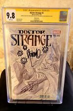 Doctor Strange 2, Alex Ross Variant Sketch Cover CGC Signed by Bachalo and Aaron