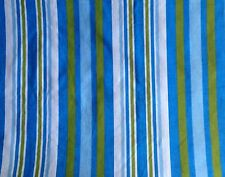 Cotton Remnant TWO pieces Remnant  Blue Green and White stripes – not perfect