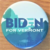 Vermont For  Joe Biden    Campaign Button 2020 From Vermont Democratic Party