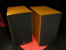 STUNNING MATCHED PAIR v4 PARADIGM MINI MONITOR SPEAKERS CHERRY CABINET - WORKS !