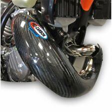 PRO CARBON Fibre NEW XL Exhaust Guard STD OEM PIPE KTM 150 EXC TPI 2020