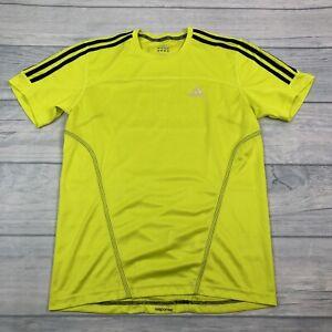 ADIDAS Response Running Solar Yellow Breathable Short Sleeve Top TShirt Size S