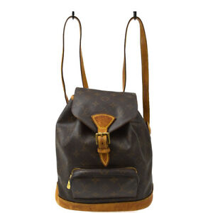 LOUIS VUITTON MONTSOURIS MM BACKPACK BAG PURSE MONOGRAM M51136 gk 40109